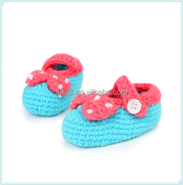 Handmade Crochet Infant Baby Booties Boys Girls Slippers Shoes