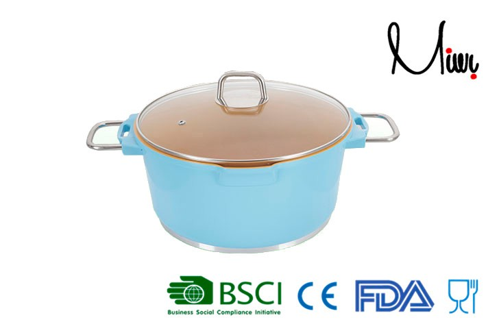 20cm Diecasting Aluminum Ceramic cookware casserole recipe chicken soup easy