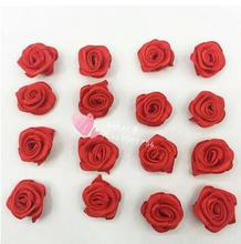 red pink clothes decoration flower high quality flower garment accessories rose flower for gift packing decoration