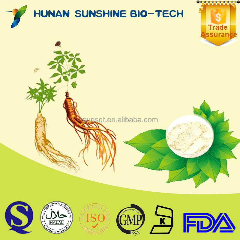 Root extraction Ginsenoside Re 98% Ginseng Extract reducing acetylcholine uterine contraction in vitro