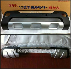 OEM ABS plastic car body tuning parts front and rear bumper guard for Toyota RAV4 2012 auto parts body kits