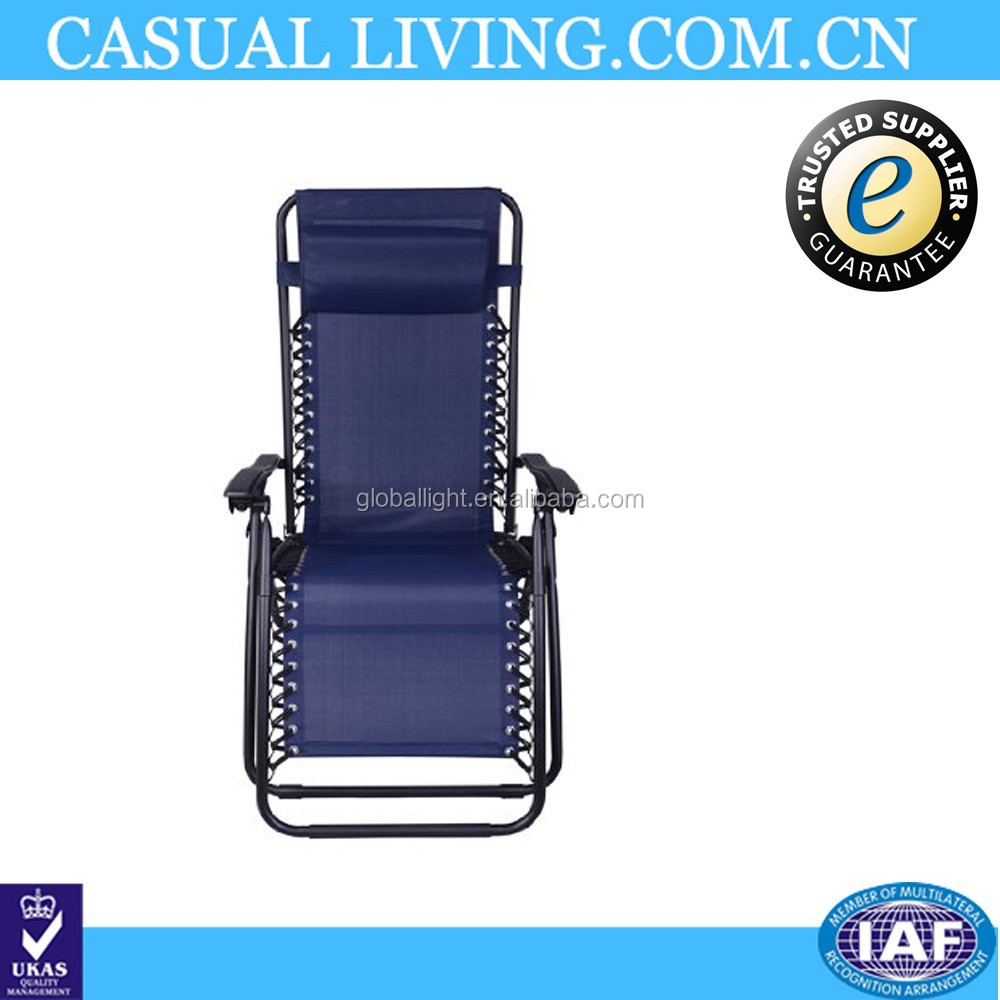Garden Beach Folding Blue Zero Gravity Lounge Chair