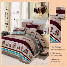 100% polyester printed brand bedding sets wholesale, microfiber bedding sets