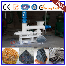 Rice Husk Compress Machine Raw Materials In Charcoal Briquette Extruder Machine