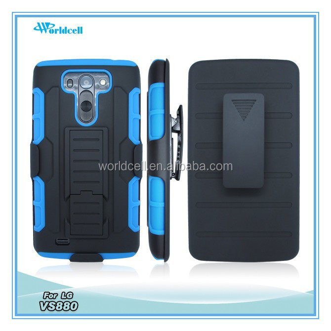 bulk cell phone case for LG VS880 with belt clip