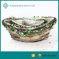 Larger Grass Boat Design In Outdoor Decoration