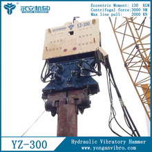 Foundation Hydraulic Hammer YZ300 Concrete Pile Driver for sale