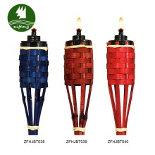 Bamboo Crafts Decorative Festival Bamboo Torches with flame guard