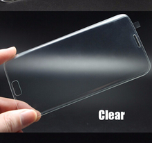 Full Cover transparent 3D Curved For Samsung galaxy s6 edge tempered glass screen protector 3DC01