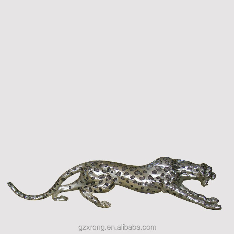 hot sale polyresin animal leopard statue for home &garden decoration