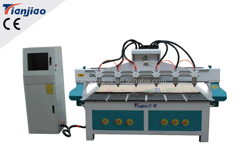 Multi-head cnc milling machine cnc router machine