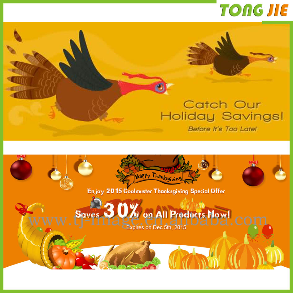 Thanks giving promotion outdoor advertising banners