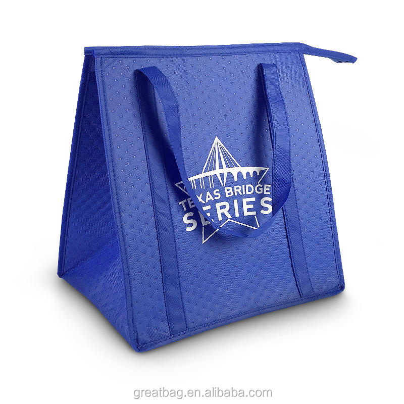 Wholesale thermal insulated cooler bags with zipper for promotional