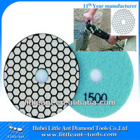 "100mm/4"" 1500 grit power tool of discs for marble polishing dry use"