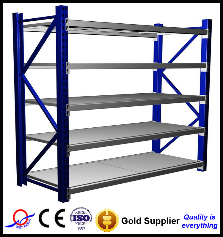 Q235 Steel Middle / Medium Duty Slotted Angle Rack/Boltless Racking/Shelving for Industrial Warehouse Storage System