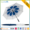 Manual Opening promotional windproof Sun Protection Double Canopy Golf Umbrella