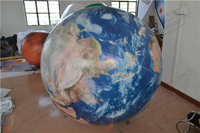 Planet filling can be customized Advertising Inflatable Helium Led Balloon