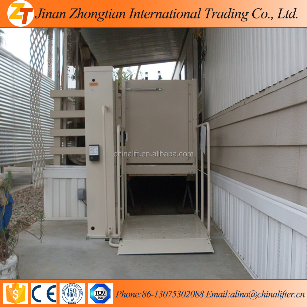 2016 JINAN ZHONGTIAN 1m TO 6m hydraulic lifts for disabled people HOEM LIFT
