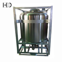 Polished stainless steel round tank/stainless steel IBC