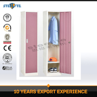 Wholesale Metal Furniture KD Structure steel locker with single doors / metal clothes wardrobe