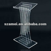 Modern and Vintage Customized Acrylic Church Stage Podium Lectern