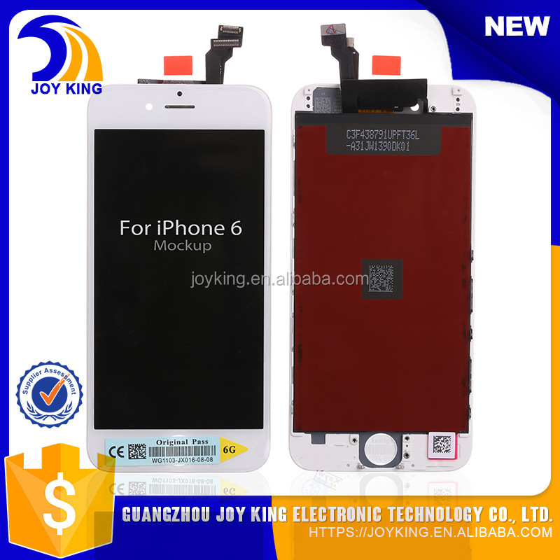 Gold supplier 100% Original AAA grade digitizer assembly for iphone 6 lcd display