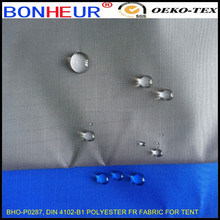 DIN 4102-B1 polyester FR fabric for tent