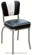 Black and White V-back Diner Chair