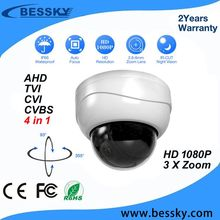 Bessky CCTV mini speed dome IR waterproof 3x zoom AHD PTZ camera with cheap price,Medium Speed Dome Camera