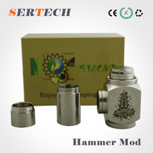 2014 cool design stainless steel ecig kato hammer mod with ithaka RBA atomizer