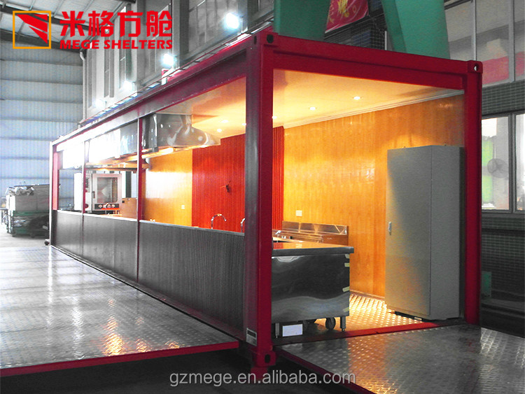 Awesome 40ft Modern Container Kitchen With High Fire Retardancy