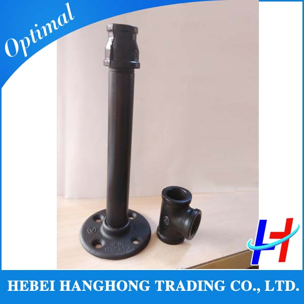 Inch black cast iron thread pipe plug and fittings