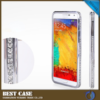 Custom hard smart aluminium metal frame bumper cover case for samsung galaxy note 2 n7100