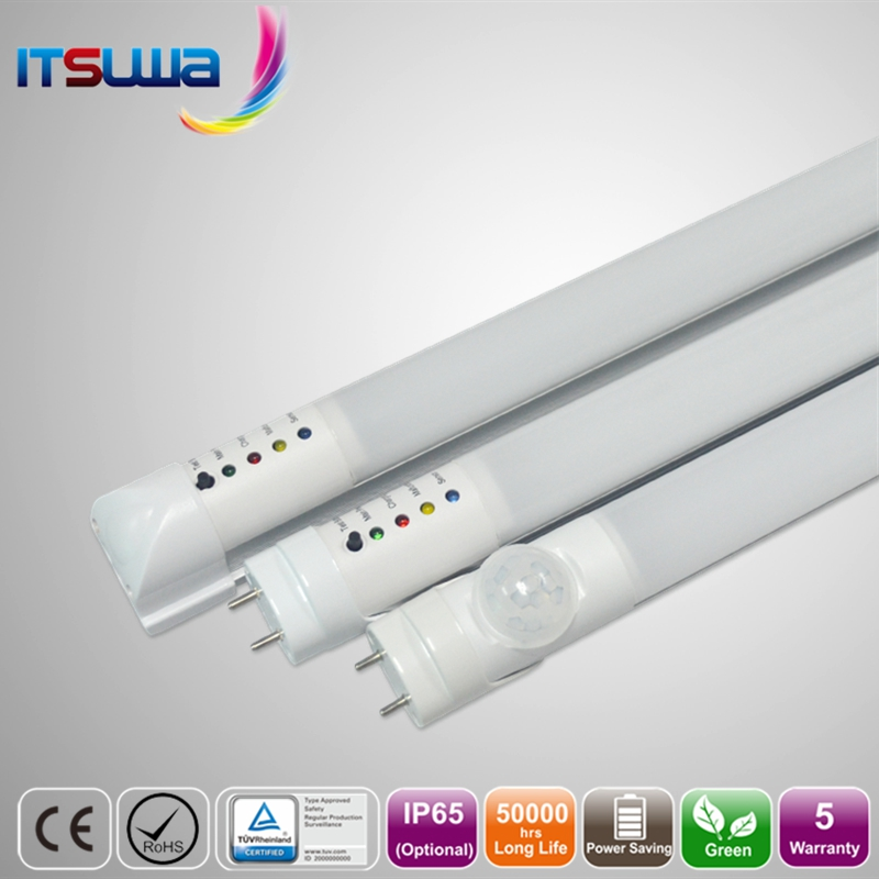 CE ROHS standard t8 elephant tube motion sensor 18w led tube light emergency led tube
