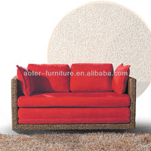 Popular used rattan sofa for sale 4RA105-2