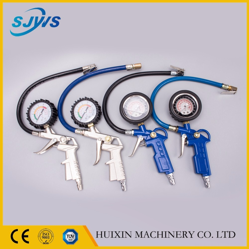 Auto parts pneumatic tools tire inflator with gauge