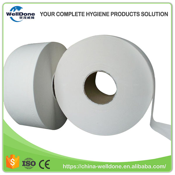 Sanitary Napkin Raw Material 1 or 2 Layer Soft Toilet Paper Jumbo Roll