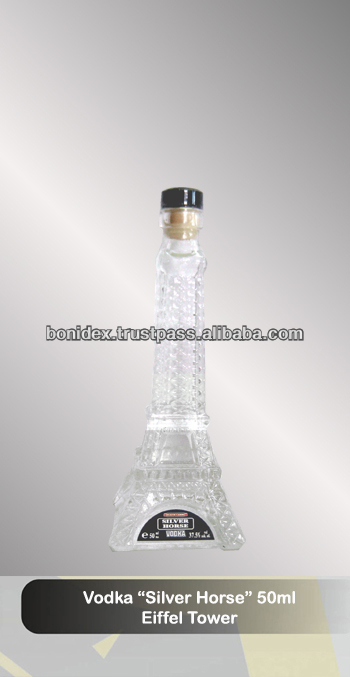 "Eiffel Tower Vodka ""Silver Horse"" 5cl new arrivals"