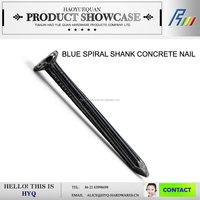 "2"" Blue colour steel concrete nails from China"