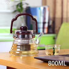 Hot Selling glass arabic coffee pot dallah With Stainless Steel Infuser