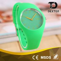 Fashionable 40MM alloy watch case women silicone sports watch