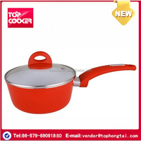 Aluminum Ceramic Induction Sauce Pan With Lid