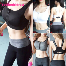 Custom Fitness Wear Sexy Ladies Wholesale Sports Yoga Bra For Zip Front
