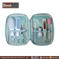 Hot selling baby silicone finger toothbrush manicure set with digital mercury clinical thermometer