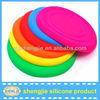 Unbreakable pet training silicone dog frisbee toys China