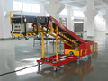 overhead truck loading and unloading belt conveyor