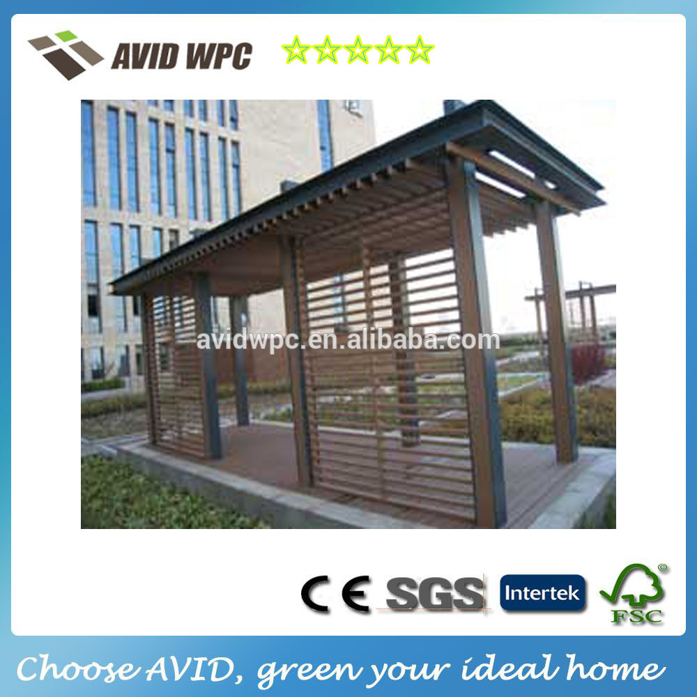 New products WPC pergola / wood plastic composite carport