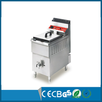 Commercial Kitchen Equipment Conut Oil-water Fryer Potato Prices Gas Fried Chicken Machine with CE