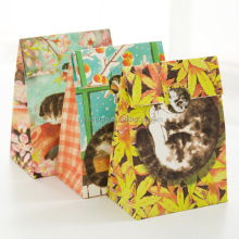 Lovely Cat Paper bag Home Decor Birthday Party Gift Bag Creative Paper Bag