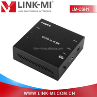 LM-CSH1 Support NTSC&PAL Format RCA Port AV to HDMI Converter